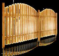 Строительство забора из деревянного штакетника